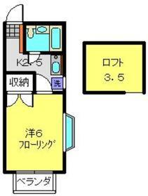 日吉駅 徒歩15分2階Fの間取り画像