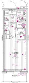 ガーラ・リバーサイド横濱南10階Fの間取り画像