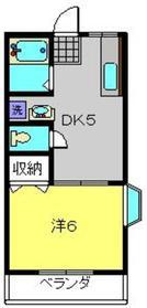 ハイムM2階Fの間取り画像