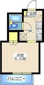 内田マンション2階Fの間取り画像