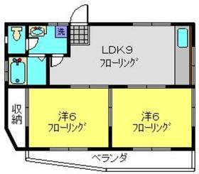 平塚マンション2階Fの間取り画像