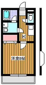 アドミラーブル21階Fの間取り画像