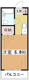 アパートメント・クリサンセマム2階Fの間取り画像