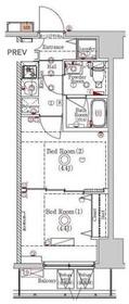 ラフィスタ川崎Ⅵ2階Fの間取り画像
