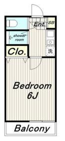 永山フラワーマンション5階Fの間取り画像