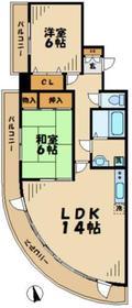 リッジモントゥ鶴牧2階Fの間取り画像