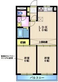 深沢一ツ木マンション1階Fの間取り画像