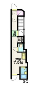 Wing Apartsments  Nakaitabashi3階Fの間取り画像