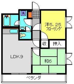カツキビル2階Fの間取り画像