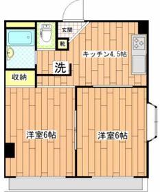 ランバー藤枝フォレスタ1階Fの間取り画像