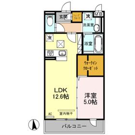 (仮)D-room戸田A1階Fの間取り画像