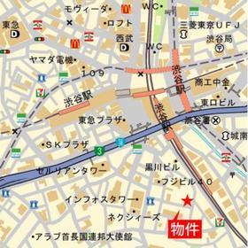 パークアクシス渋谷桜丘サウス案内図