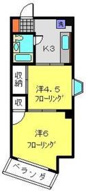 クローバーハイツ3階Fの間取り画像