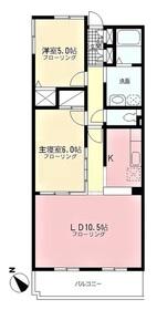 京王多摩川駅 徒歩29分2階Fの間取り画像