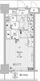 グランド・ガーラ横濱万世町11階Fの間取り画像