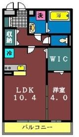 リヴェール(大和田新田)3階Fの間取り画像