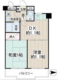 グレースピア・ヤワタ5階Fの間取り画像
