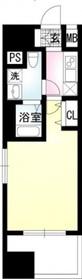 PRISM COURT川崎14階Fの間取り画像