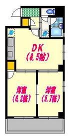 メゾンドビィフォーレ6階Fの間取り画像