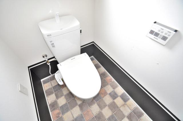 第2シャトー新町 清潔感のある爽やかなトイレ。誰もがリラックスできる空間です。