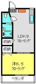 ヤマダハイツ3階Fの間取り画像