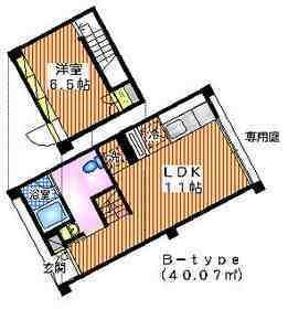 haramo S12階Fの間取り画像