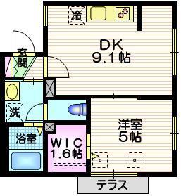 Maison HIRO1階Fの間取り画像