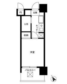 ロイヤルパレス川崎本町4階Fの間取り画像