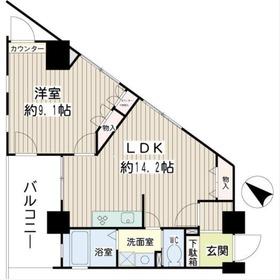川崎駅 徒歩12分8階Fの間取り画像