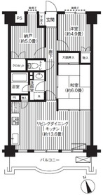 フジマンション第25階Fの間取り画像