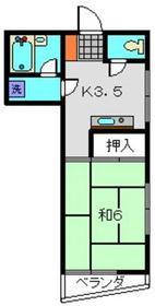 武蔵小杉駅 徒歩26分3階Fの間取り画像