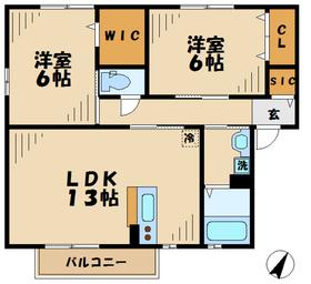 鶴巻温泉駅 車11分4.3キロ1階Fの間取り画像