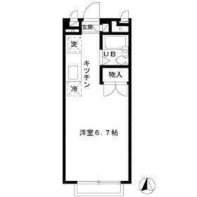 エステートピアMITA2階Fの間取り画像