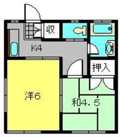 メゾンプチ2階Fの間取り画像