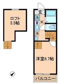 アクセス二俣川2階Fの間取り画像
