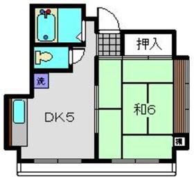 パークハイツヤマガタ4階Fの間取り画像