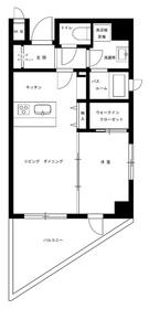 潮見新築マンション4階Fの間取り画像