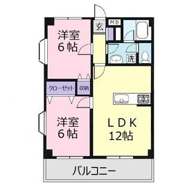 パールエミネンス3階Fの間取り画像