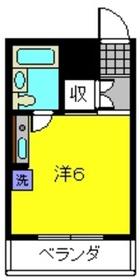 横浜エースマンション1階Fの間取り画像