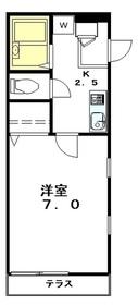 FLAT YUTAKA1階Fの間取り画像