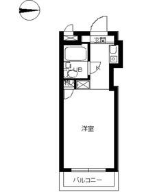 スカイコート品川第23階Fの間取り画像