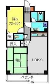シャングリラ弐番館3階Fの間取り画像