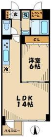 KEYAKI GARDEN(欅ガーデン)7階Fの間取り画像