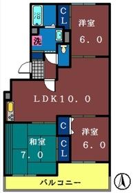 ロイヤルコート1階Fの間取り画像