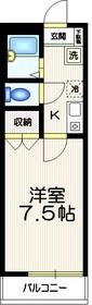 カーサフォレストーネ中野坂上1階Fの間取り画像