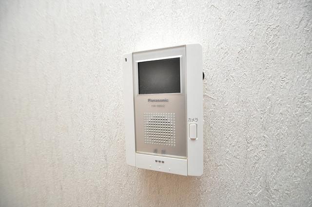 太陽マンション モニター付きインターフォンでセキュリティ対策もバッチリ。