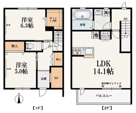 Maison de Sakuras2階Fの間取り画像