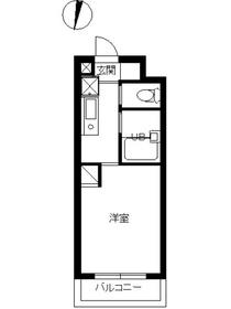 スカイコート新宿落合第64階Fの間取り画像