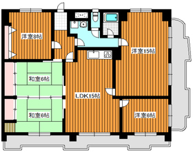 地下鉄成増駅 徒歩1分12階Fの間取り画像