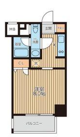 レジディア新横浜6階Fの間取り画像